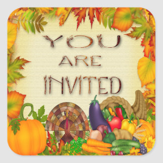 Happy Thanksgiving Invitation Envelope Seals