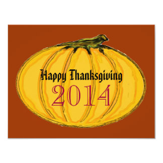 Happy Thanksgiving jGibney The MUSEUM Zazzle Gifts 11 Cm X 14 Cm Invitation Card