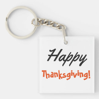 Happy Thanksgiving! Keychain