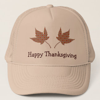 Happy Thanksgiving Leaf Cap