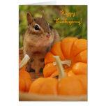 Happy Thanksgiving Little Chipmunk Card