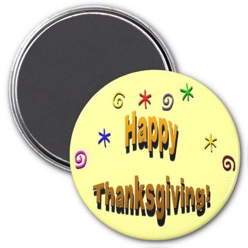 Happy Thanksgiving Refrigerator Magnets