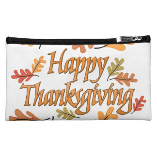 Happy Thanksgiving Makeup Bag