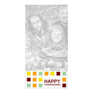 happy thanksgiving mod squares customized photo card