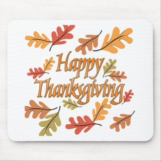 Happy Thanksgiving Mouse Mat