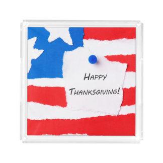 Happy Thanksgiving Notepad Acrylic Tray