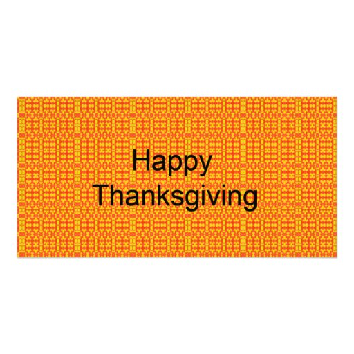 Happy Thanksgiving Personalized Photo Card