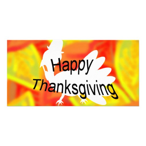 Happy Thanksgiving Photo Greeting Card