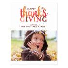 Happy Thanksgiving Photo Postcard
