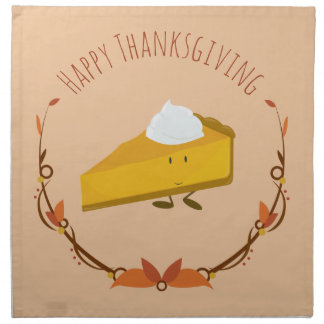 Happy Thanksgiving Pie Slice | Cloth Napkin