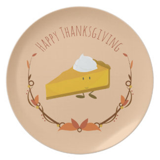Happy Thanksgiving Pie Slice | Melamine Plate