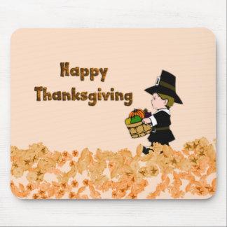 Happy Thanksgiving Pilgrim Mouse Mat