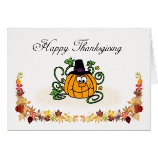 Happy Thanksgiving, Pilgrim Pumkin Greeting Cards