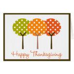 Happy Thanksgiving Polka Tree Folded Card