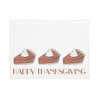Happy Thanksgiving Pumpkin Pie Autumn Fall Holiday Doormat