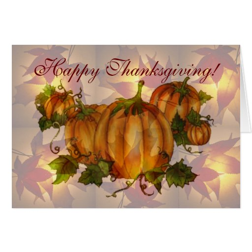 HAPPY THANKSGIVING PUMPKINS by SHARON SHARPE Greeting Cards