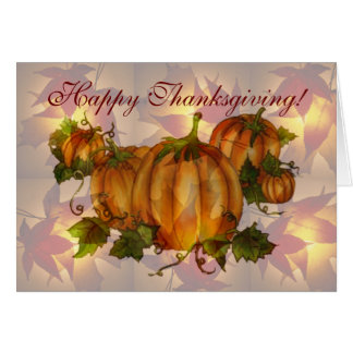 HAPPY THANKSGIVING PUMPKINS by SHARON SHARPE Greeting Card