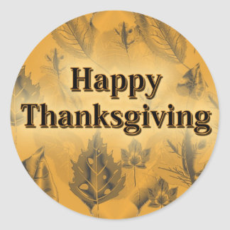 Happy Thanksgiving Round Sticker
