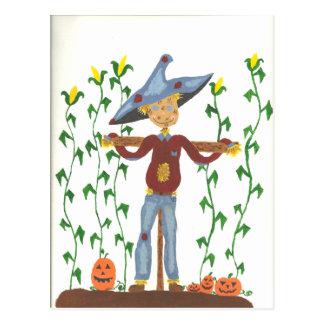 Happy Thanksgiving Scarecrow Postcard