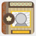 happy thanksgiving (scrapbook) square sticker