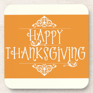 Happy Thanksgiving Script Orange Coaster