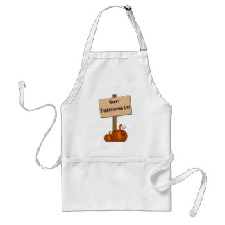 Happy Thanksgiving Sign Standard Apron