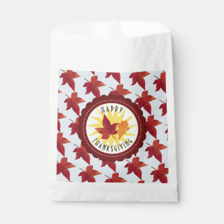 Happy Thanksgiving Sky and Fall Leaves Favour Bags
