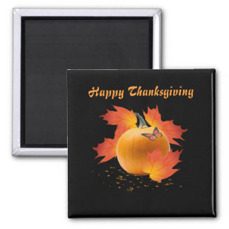 Happy Thanksgiving Square Magnet