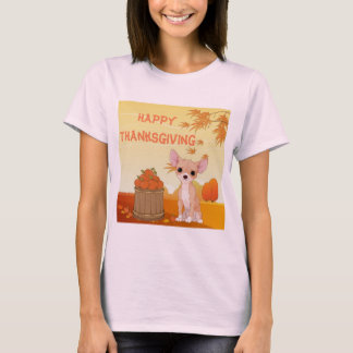 Happy Thanksgiving Tan Chihuahua T-Shirt