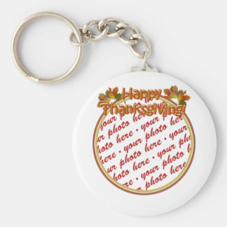 Happy Thanksgiving Text Design  Photo Frame Key Chains