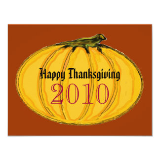 Happy Thanksgiving The MUSEUM Zazzle Gifts 11 Cm X 14 Cm Invitation Card