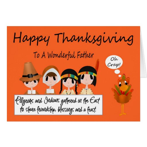 Happy Thanksgiving To Father Greeting Card