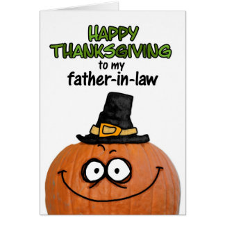 Happy Thanksgiving to my Father-in-law Greeting Card