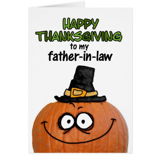 Happy Thanksgiving to my Father-in-law Greeting Cards
