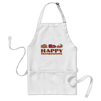 Happy Thanksgiving Turkey Cranberry Pie Apron