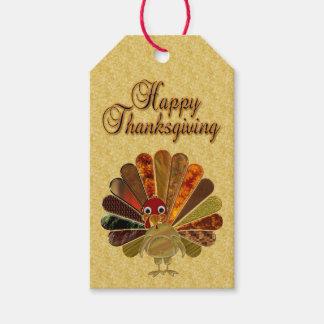 Happy Thanksgiving Turkey - Gift Tag