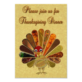 Happy Thanksgiving Turkey - Invitation