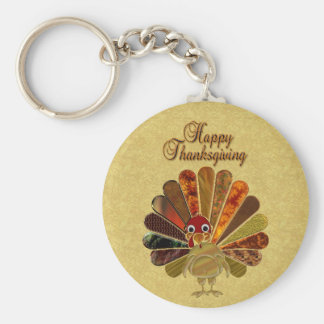 Happy Thanksgiving Turkey - Keychain