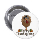 happy thanksgiving turkey pinback buttons