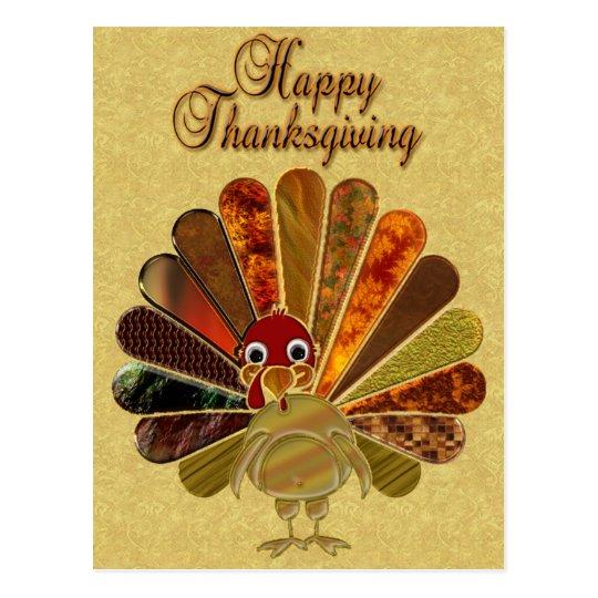 Happy Thanksgiving Turkey - Postcard
