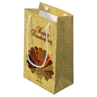 Happy Thanksgiving Turkey - Small Gift Bag