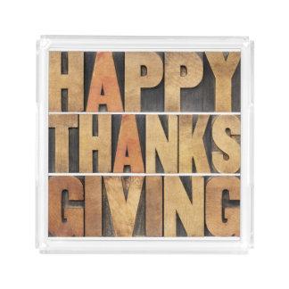Happy Thanksgiving - Vintage Acrylic Tray