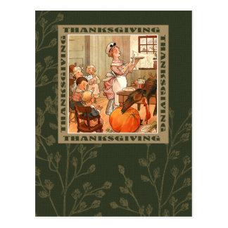 Happy Thanksgiving. Vintage Design Postcards