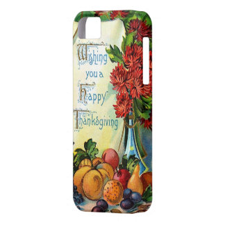 Happy Thanksgiving Vintage Fall Harvest Art Barely There iPhone 5 Case