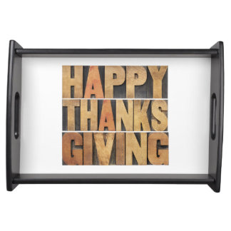 Happy Thanksgiving - Vintage Serving Tray