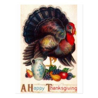 Happy Thanksgiving Vintage Turkey Post Card