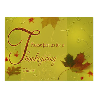 Happy Thanksgiving Wishes - Invitation