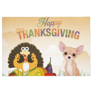 Happy Thanksgivinmg Chihuahua Doormat