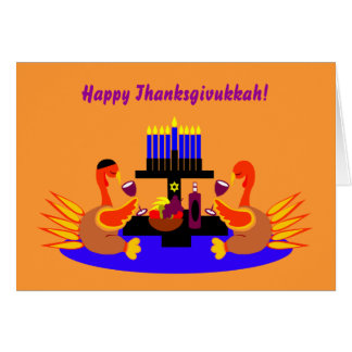 Happy Thanksgivukkah Funny Turkey Greeting Card