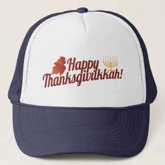 Happy Thanksgivukkah Menorah/Leaf Trucker Hat